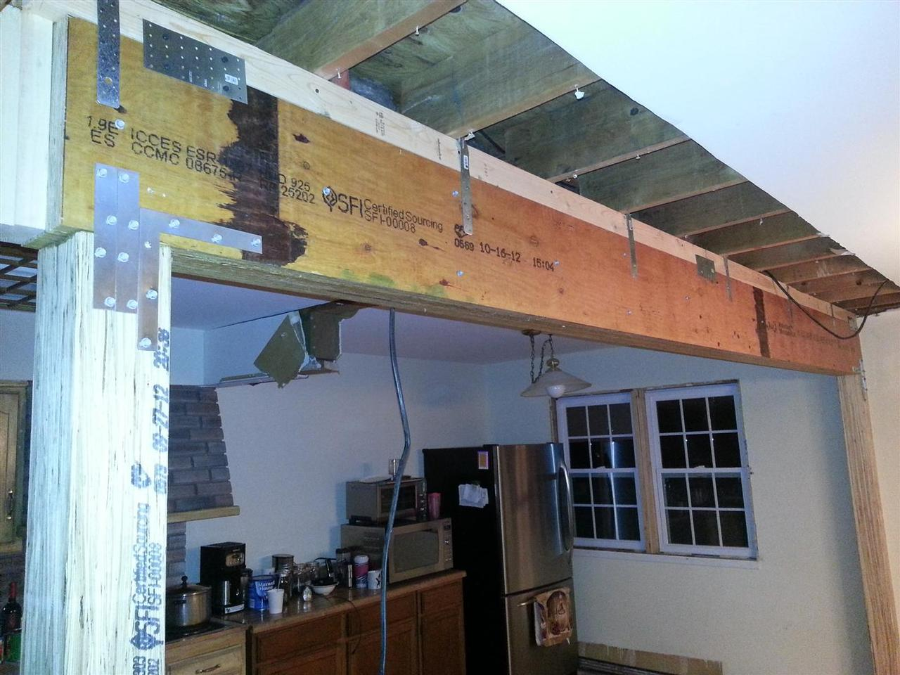 BAD Renovations Load Bearing Beam