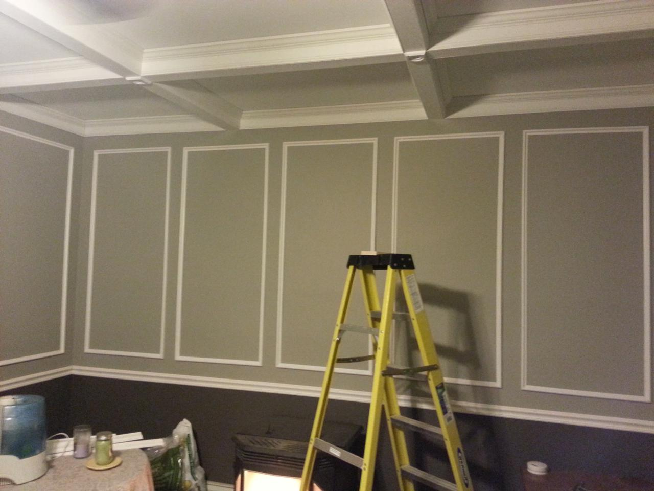 Picture frame wainscoting choice image craft decoration ideas picture frame wainscoting choice image craft decoration ideas bad renovations formal living room 364 the pictureframe jeuxipadfo Images
