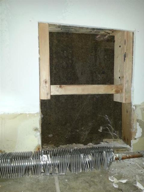 309: Here's the framining for the wall thgimble to secure to.