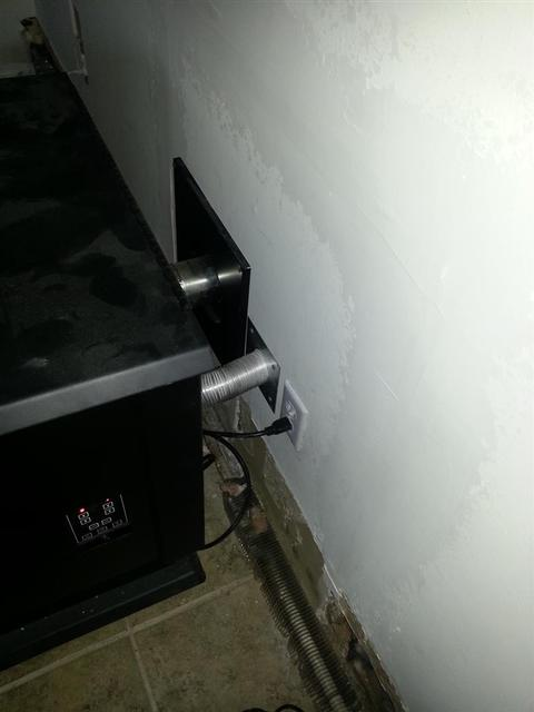 330: Added an outlet directly behind the pellet stove that way I dont need to use an extension cord anymore.